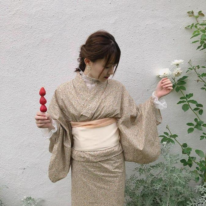 mellow's ベージュ浴衣セット