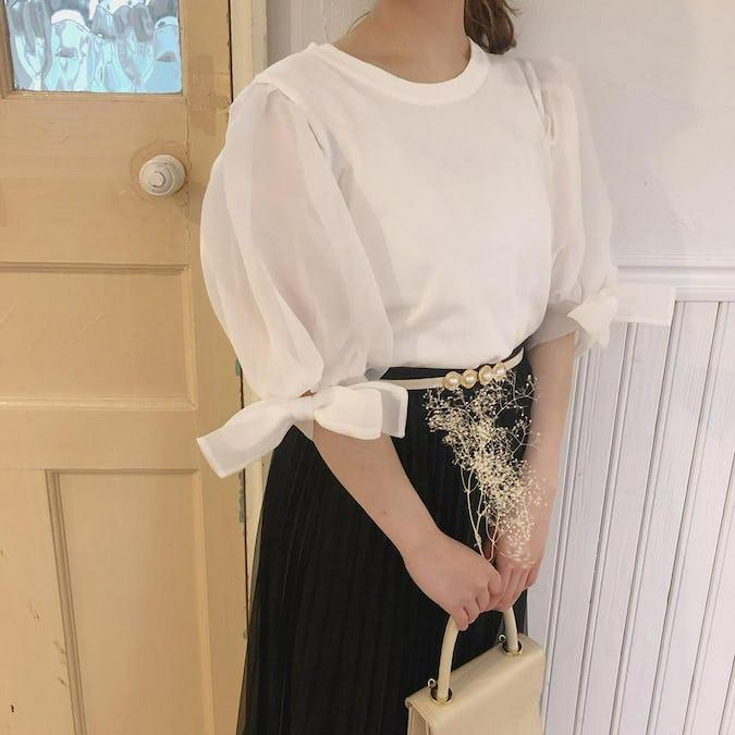 裾フリルラインスカート