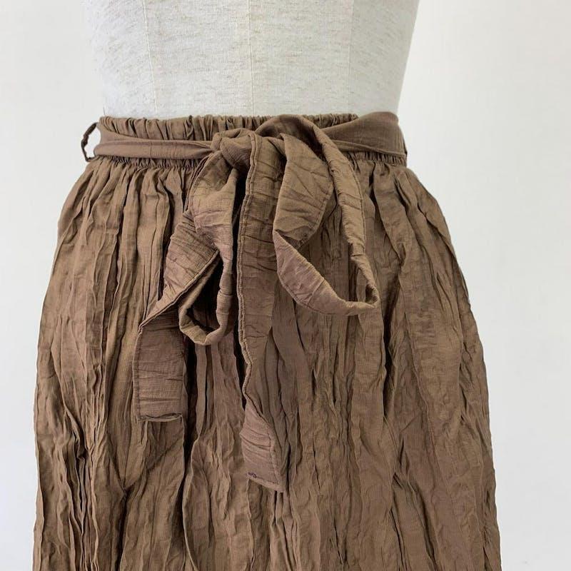 チョコシャーリングスカートの画像9枚目