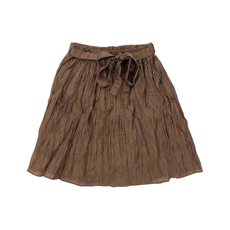 チョコシャーリングスカートの画像1枚目