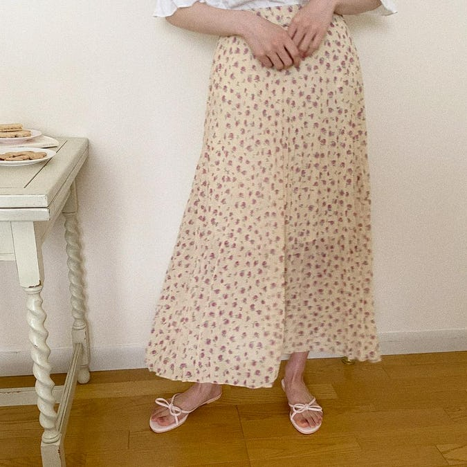 プチフラワースカート