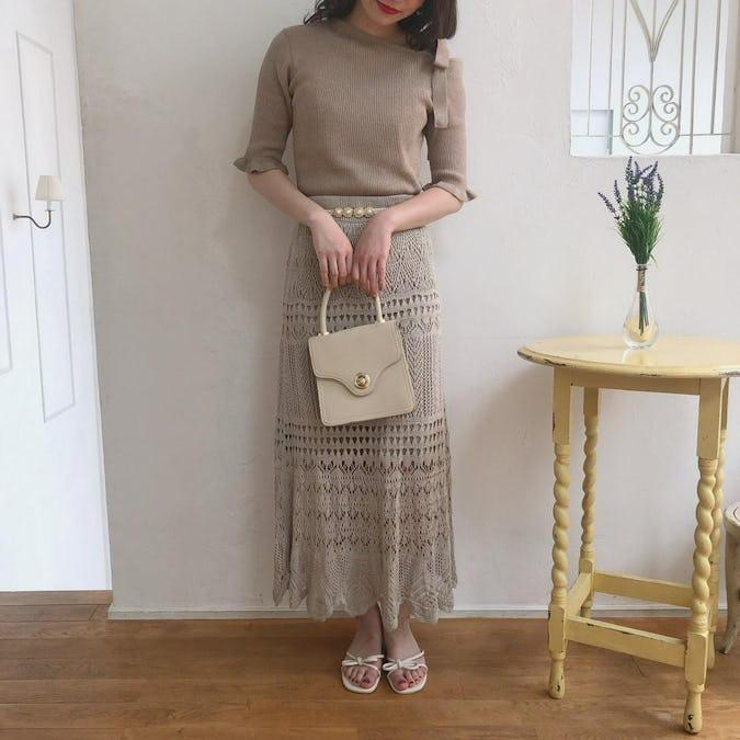 かぎ編みニットスカート