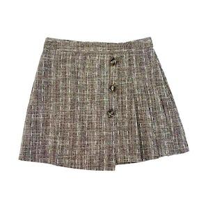 ブラウンボタンプリーツスカート