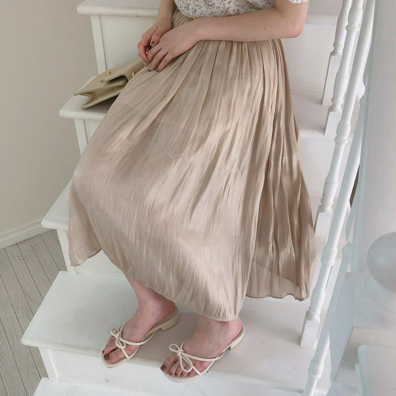 シャインプリーツスカートの画像2枚目