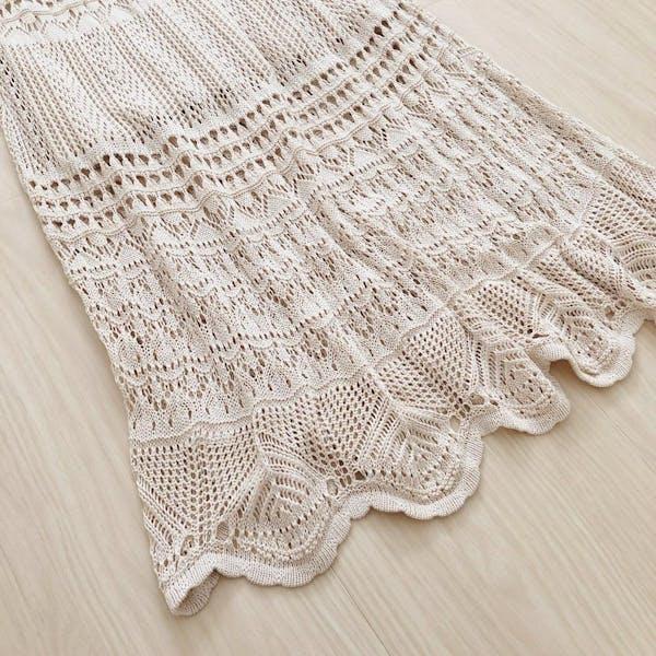 透かし編みニットスカートの画像5枚目