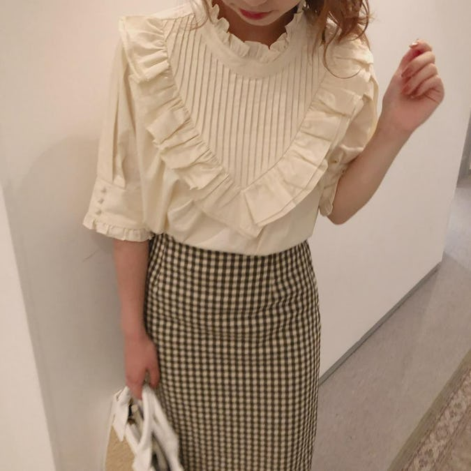 チェックタイトスカート