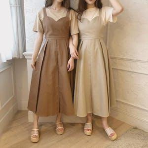 mellow's 3wayリボンジャンパースカート