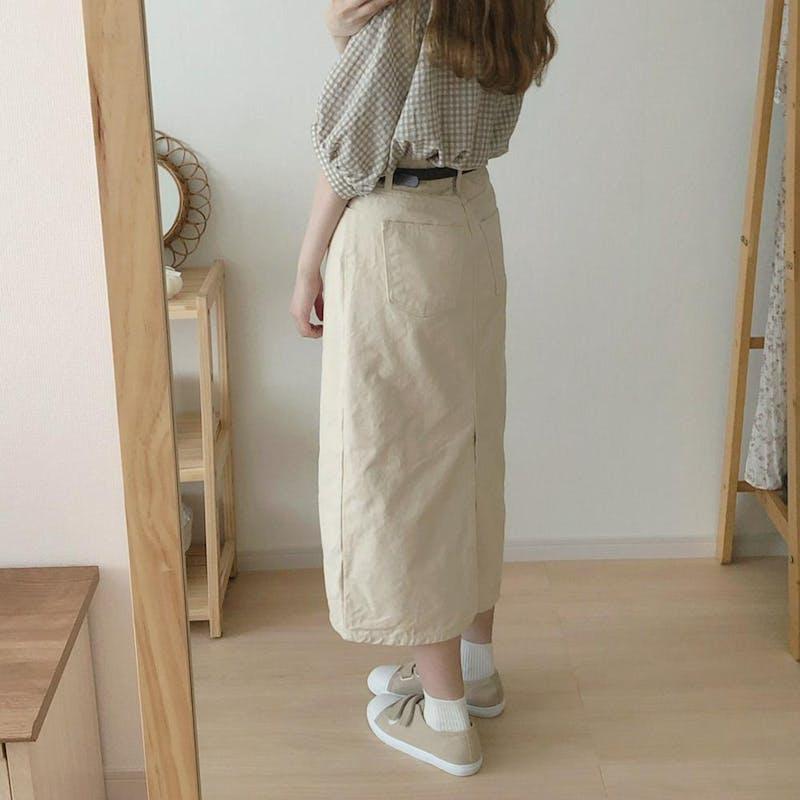ホワイトデニムスカートの画像4枚目