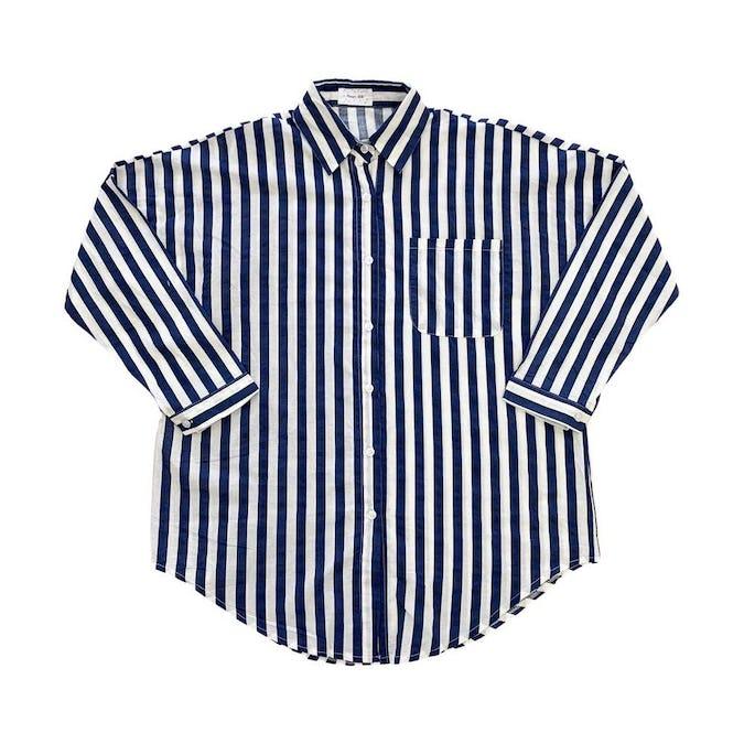 ストライプシャツ-0