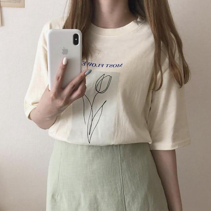 チューリップTシャツ-0