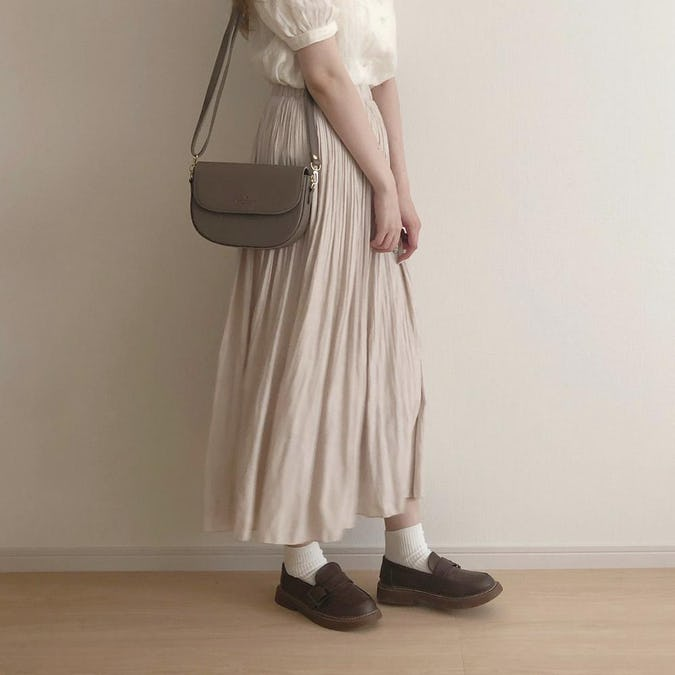シャイニープリーツスカート-0