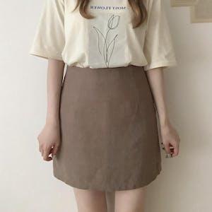 リネン台形スカート
