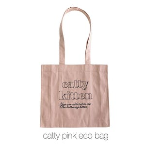 catty pink eco bag