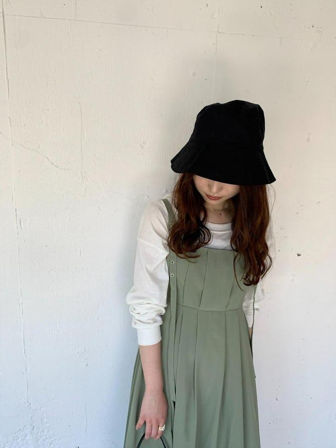 pleats camisole op     (mint/black)