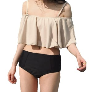 bicolor frill bikini