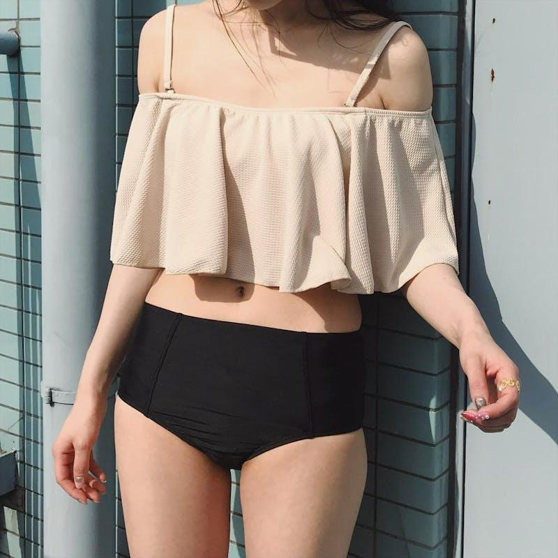 bicolor frill bikiniの画像12枚目