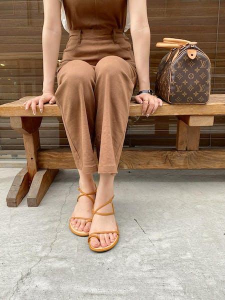 lace up summer sandalの画像1枚目