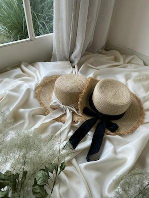 summer panama ribbon hat