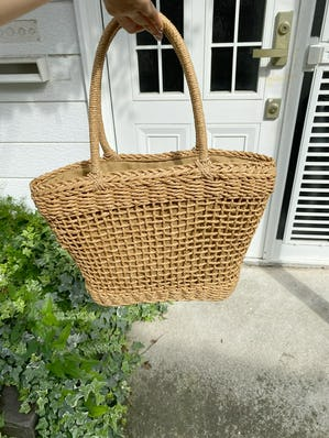 brown basket bag