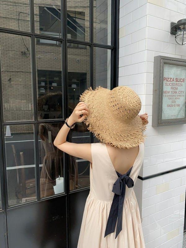 beach straw hatの画像1枚目