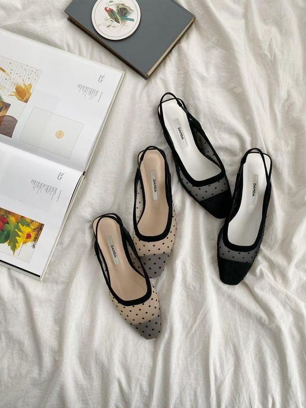sheer dot  flat shoesの画像1枚目