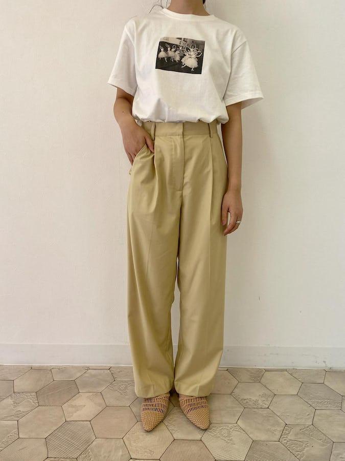 printT ×  classic long pants-0
