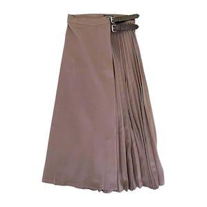 ベルトアシメプリーツスカート