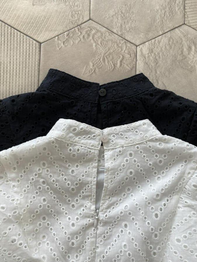 【 kanna × powantolune コラボアイテム】cotton race frill blouse