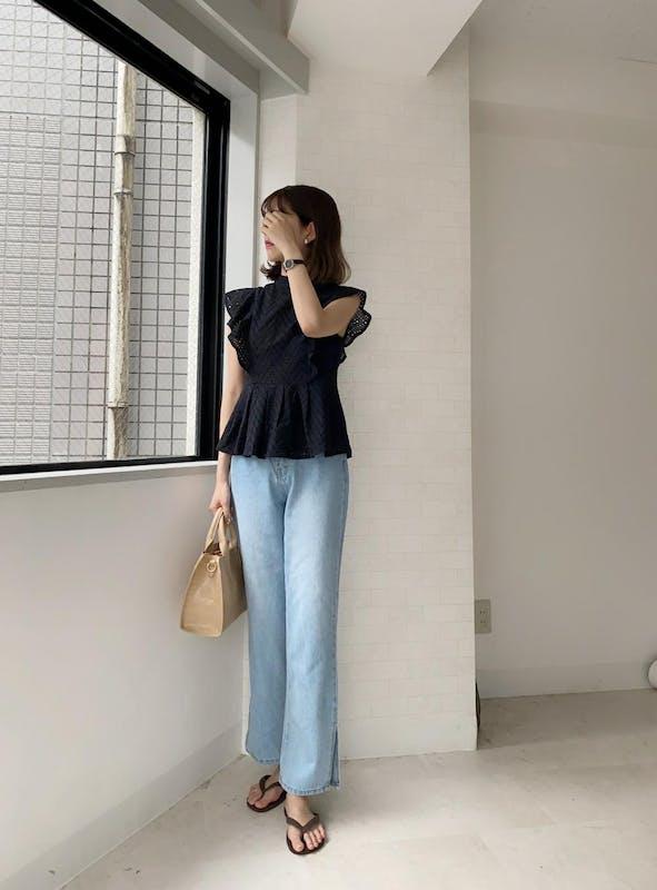 【 kanna × powantolune コラボアイテム】cotton race frill blouseの画像27枚目
