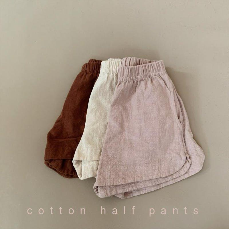 cotton half pantsの画像1枚目