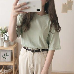 ミントカラーTシャツ