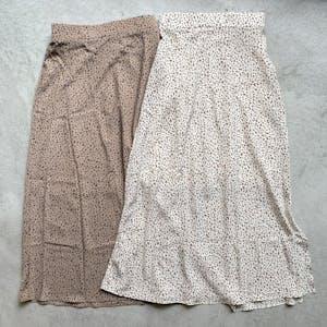 レオパードスリットスカート