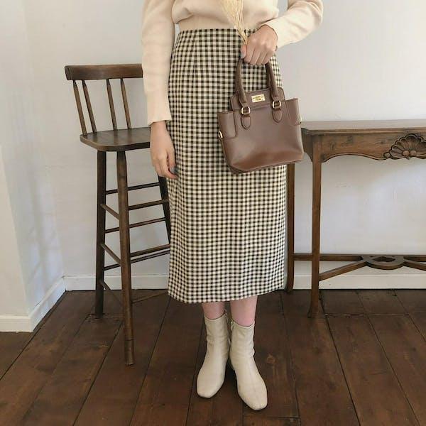 チェックタイトスカートの画像2枚目