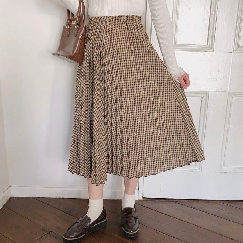 ギンガムチェックプリーツスカートの画像2枚目