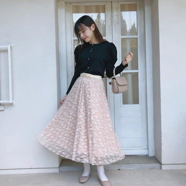 リバーシブルレーススカートの画像2枚目