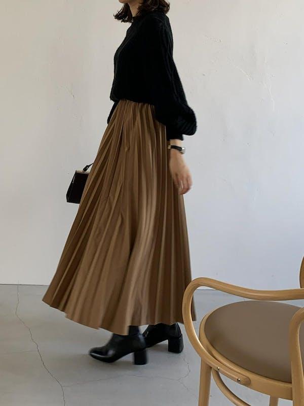 volume pleats skirtの画像56枚目