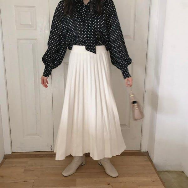 ニットプリーツスカートの画像2枚目