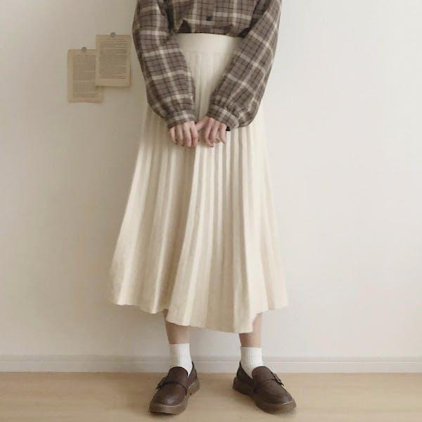 ニットプリーツスカートの画像1枚目