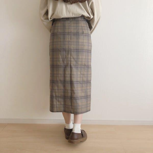 チェックロングスカートの画像9枚目