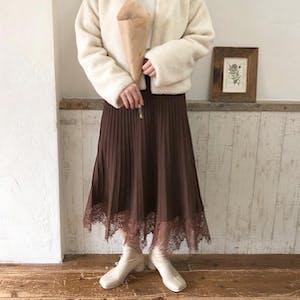 レースニットスカート