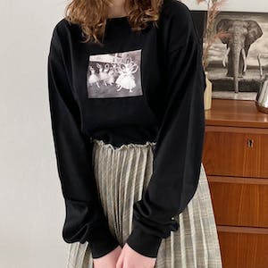 ballerina print photo long T