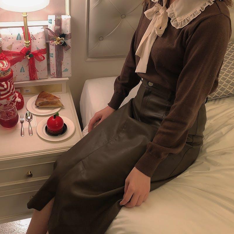 レザータイトスカートの画像1枚目