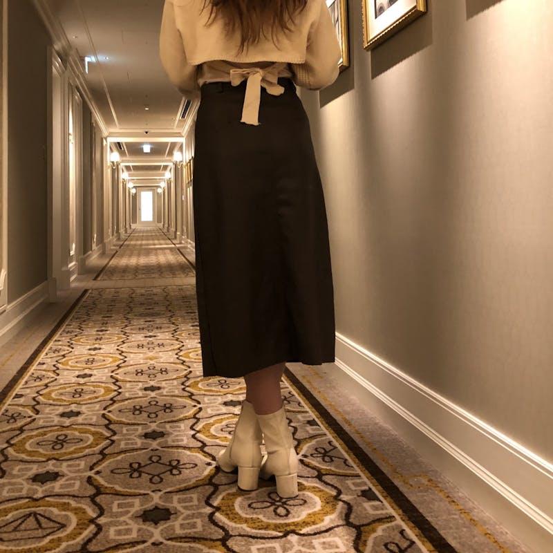 レザータイトスカートの画像2枚目
