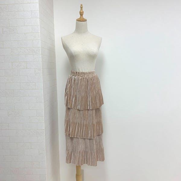 ベロアティアードスカートの画像2枚目