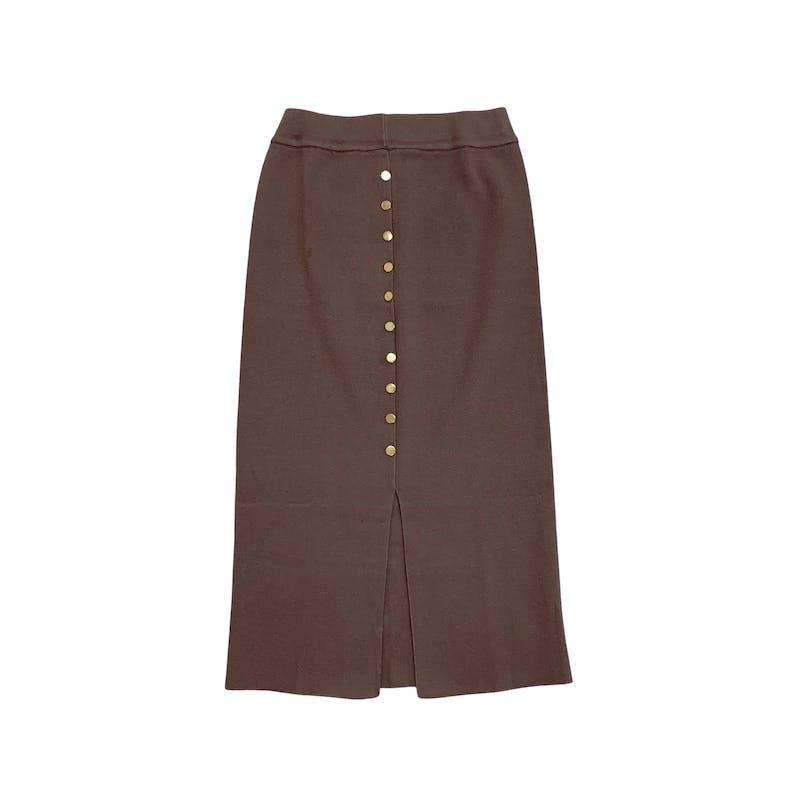 ボタンニットスカートの画像1枚目