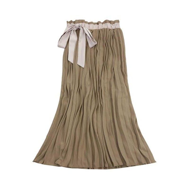 リボンプリーツスカートの画像1枚目