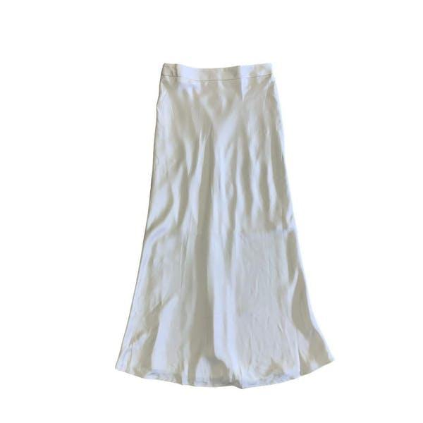 サテンロングスカートの画像1枚目
