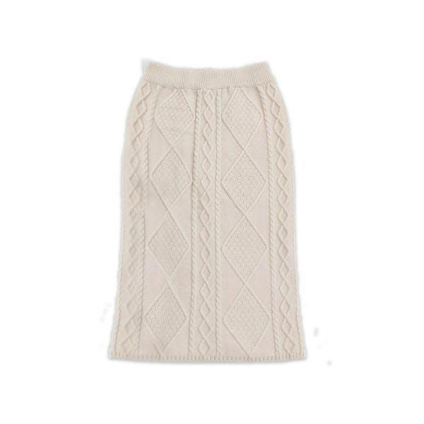 ケーブルニットスカートの画像1枚目