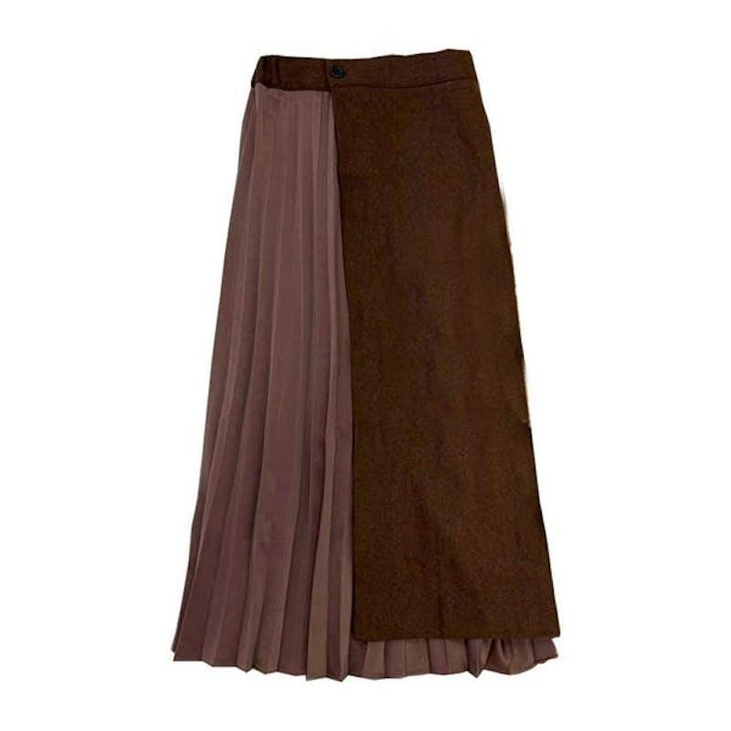 アシメプリーツスカートの画像1枚目