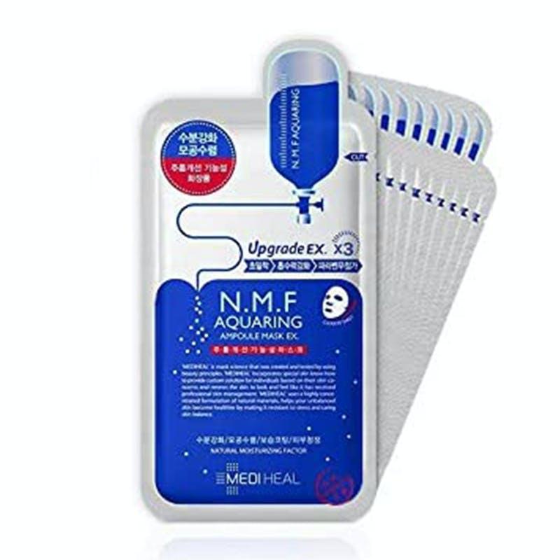 【MEDIHEAL】N.M.FアクアリングアンプルマスクEX (10枚入)  メディヒールの画像2枚目